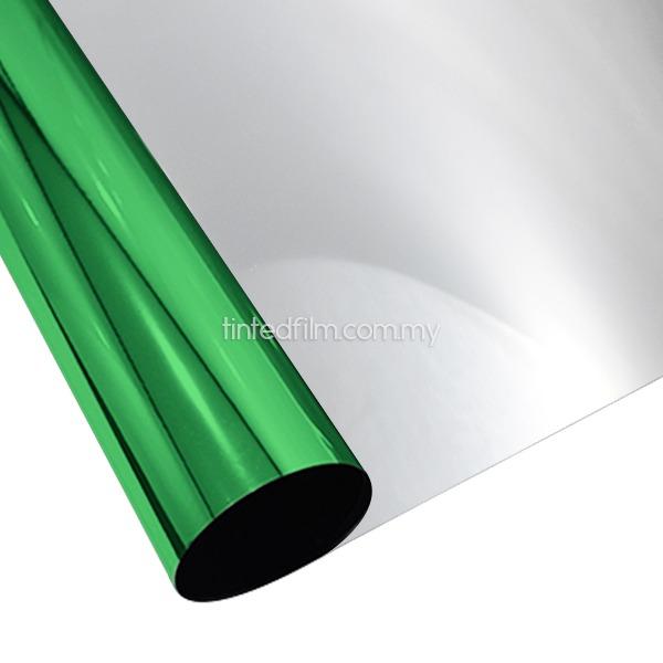 Apple green silver window film