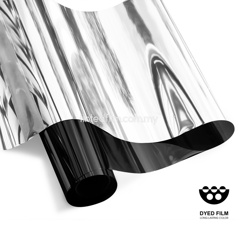 silver black tinted film