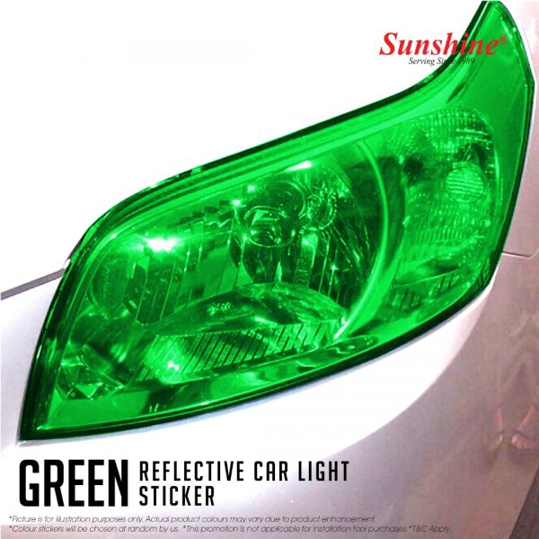 Green Head Lamp Tinted