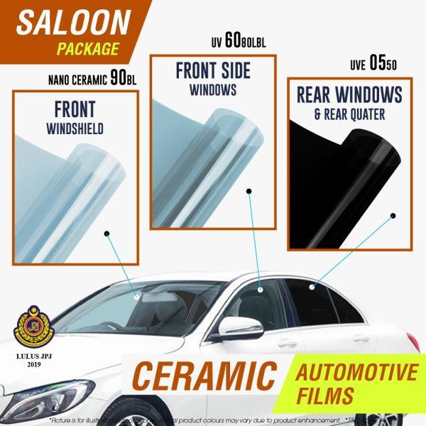 Saloon car ceramic film