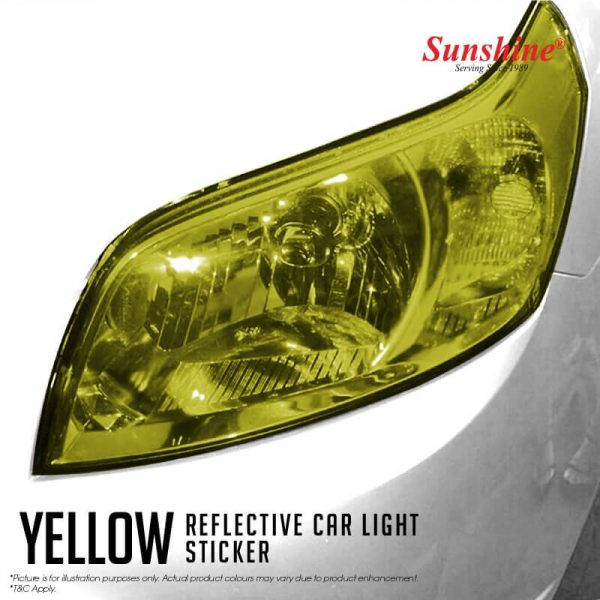 Yellow Headlamp Tinted